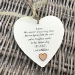Shabby personalised Gift Chic Heart Plaque Special BEST FRIEND ANY NAMES Gift - 233008497006